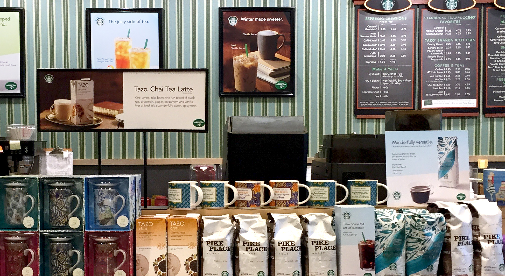 starbucks display