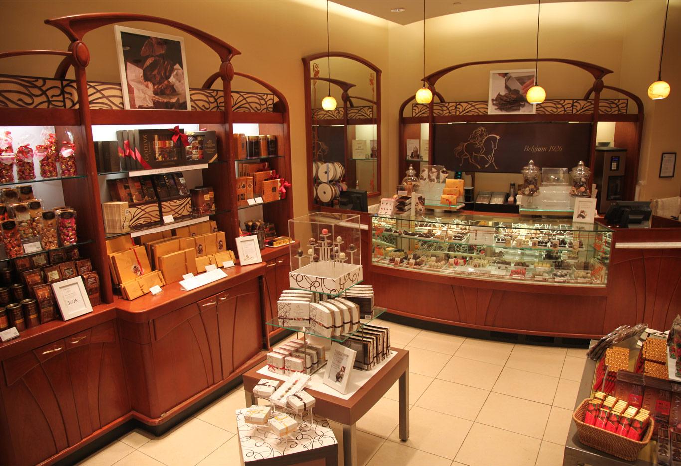 Godiva store layout
