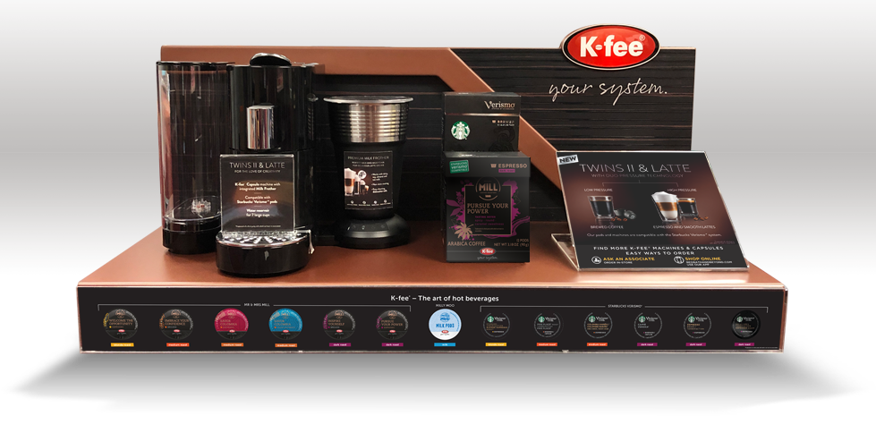 K-Fee Coffee Display Design