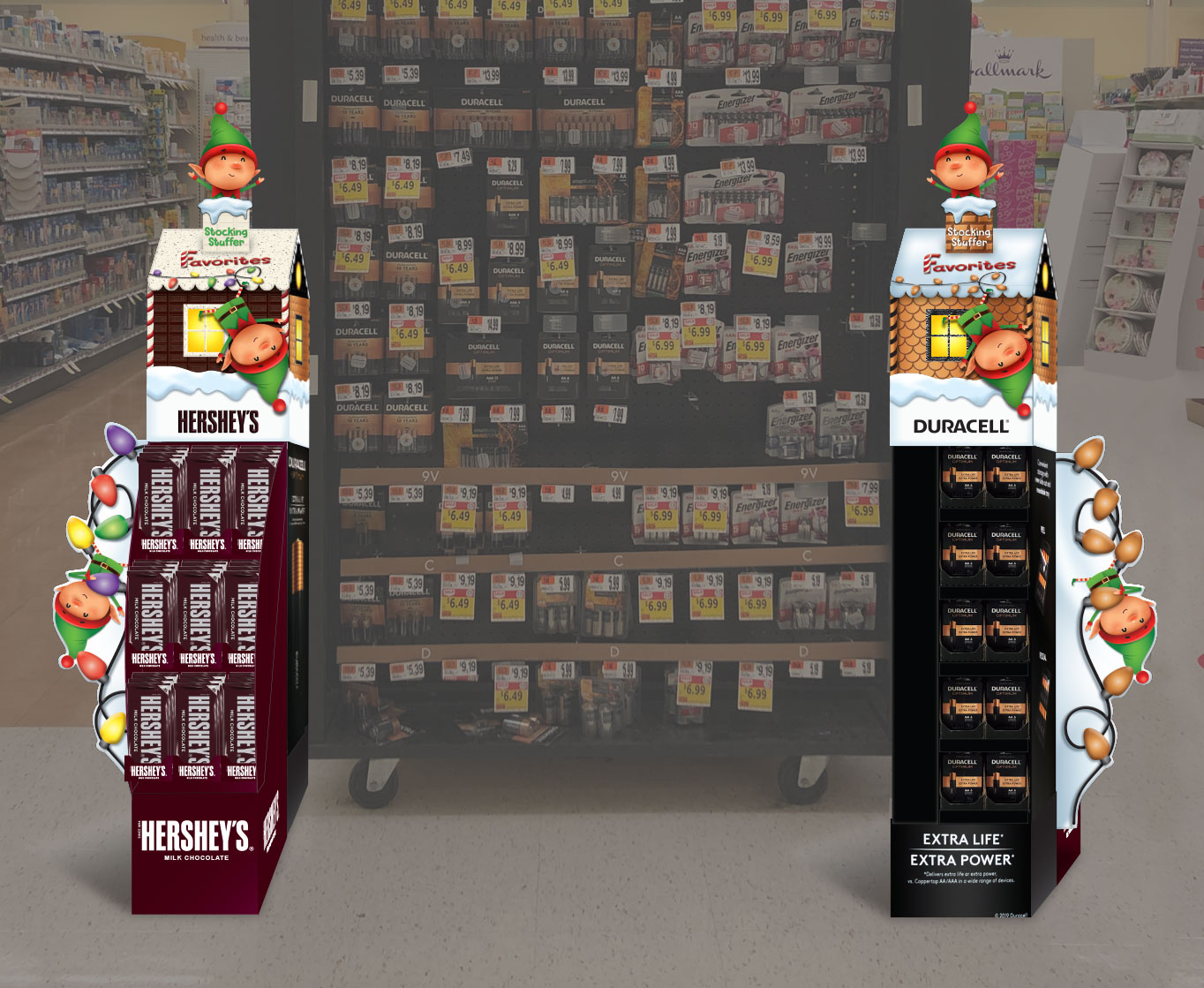duracell hershey in-store holiday popup